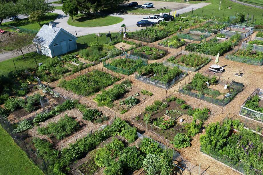 A drone view of the gardens. Photo: Bryan Haeffele /Hearst Connecticut Media /