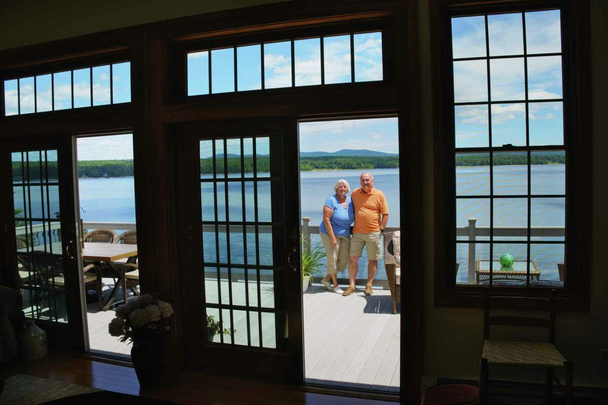 Sally Clemente and her husband Frank Clemente at their home on Great Sacandaga Lake on Tuesday, July 21, 2020, in Mayfield, N.Y. (Paul Buckowski/Times Union)