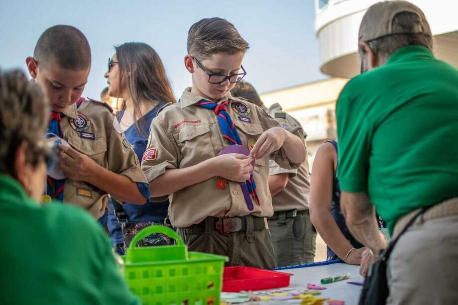 Scouts looking attended Scout Day to earn their Music Merit Badge at the Pavilion in 2019. The Pavilion has launched a Virtual Scout Day Program this season as a way for Scouts BSA to achieve their Music Merit Badge. The program will be offered via Google Classroom where Scouts can meet badge requirements through fun and interactive activities. Photo: Submitted Photo / Submitted Photo