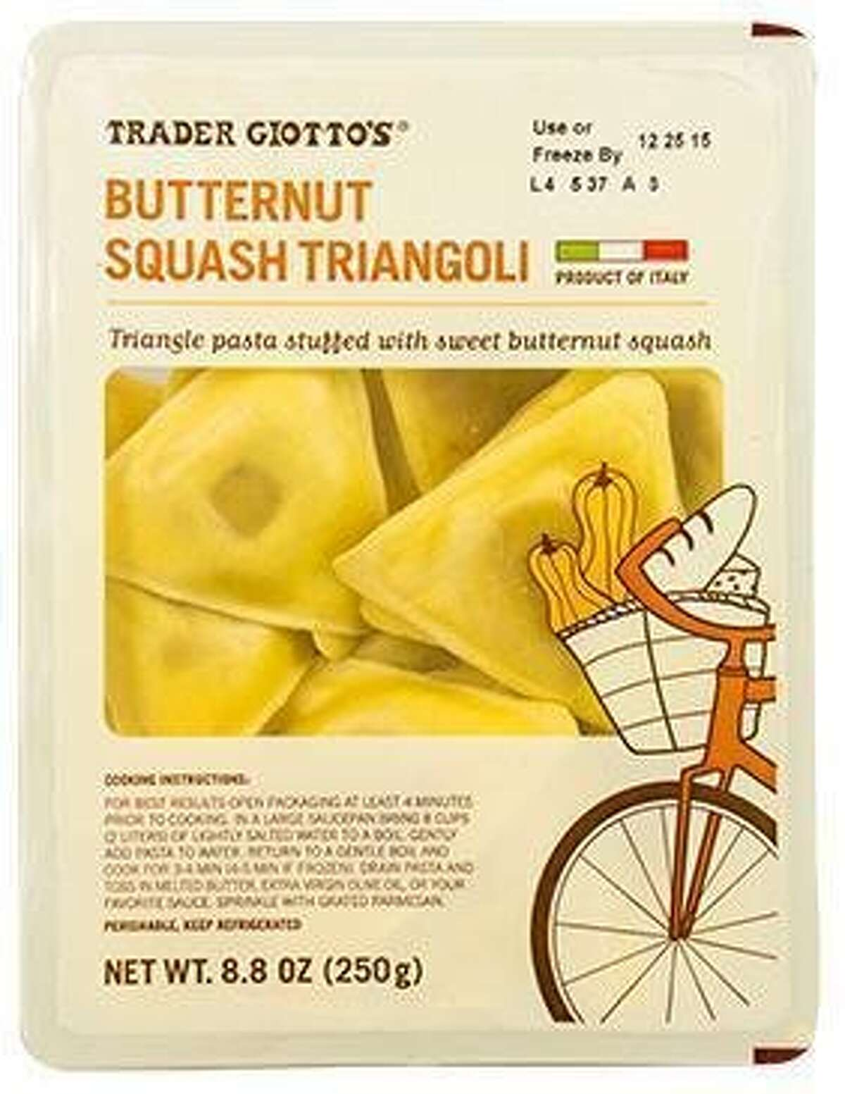 Trader Joe's is recalling its Trader Giotto's Butternut Squash Triangoli.