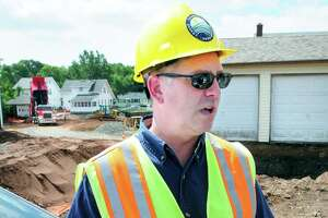 Raymond Frigon Jr., environmental analyst with the Connecticut Department of Energy and Environmental Protection, talks about the Newhall remediation efforts in Hamden in 2012.