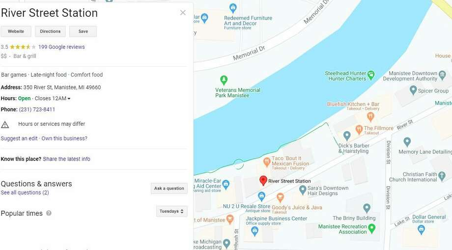 Anyone who had been at the restaurant located at 350 River St., on July 11 or July 12, is encouraged to self-monitor for symptoms for 14 days from the possible exposure date. (Google map screenshot)
