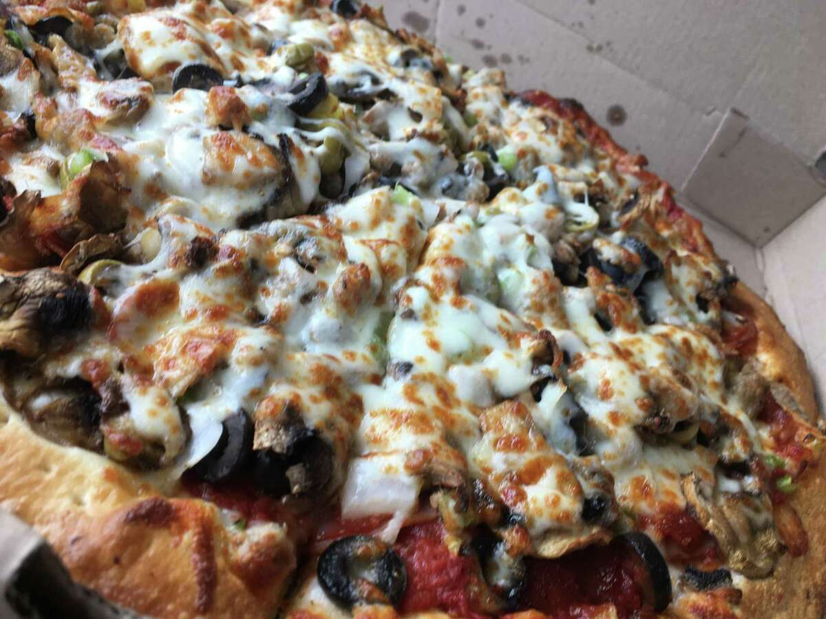 The Galaxy Supreme pizza at Maar's Pizza & More is loaded with toppings.