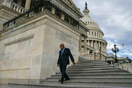 """Rep. John Lewis (D-Ga.) on Capitol Hill in Washington, Jan. 13, 2017. Over Twitter, President-elect Donald Trump criticized the Georgia congressman, one of the original Freedom Riders, as being """"all talk,"""" on the eve of the Martin Luther King Jr. holiday weekend. (Al Drago/The New York Times)"""