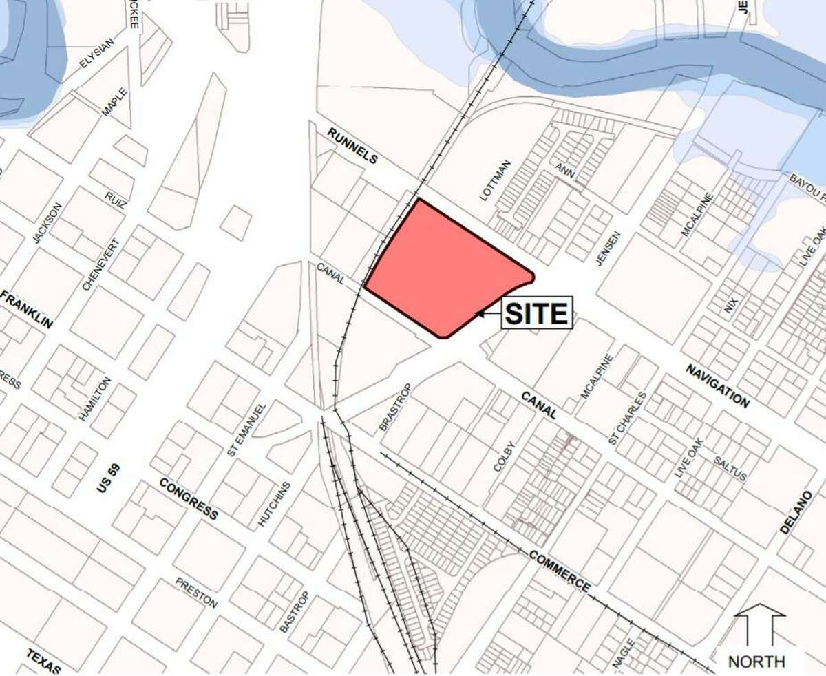 Triten Real Estate Partners is planning a mixed-use development on six acres in the East End. The Houston-based company submitted plans to the city of Houston with a variance request.