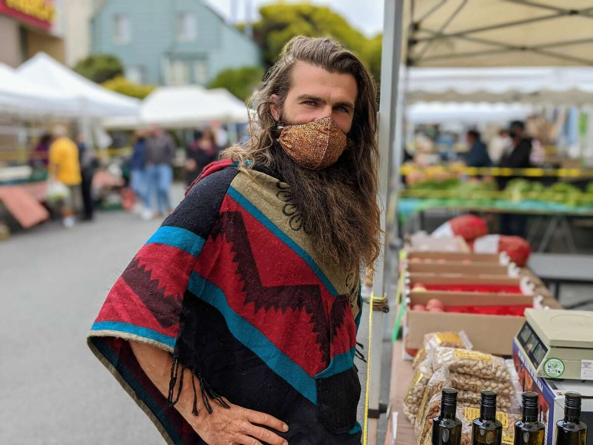 A 29-year resident of SF (he grew up in the Sunset after immigrating with this family from Ukraine at five years old), Konstantin Kosov has been coming to the Civic Center farmer's market for 20 years.