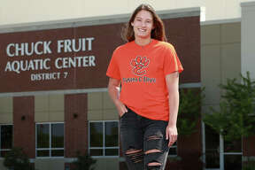 Josie Bushell of Edwardsville, at her 'home away from home,' the Chuck Fruit Aquatic Center at Edwardsville. She grabbed a state medal in the 100-yard freestyle her senior season and captured The Telegraph's Female Swimmer of the Year honor for the third consecutive season. She will swim next season at Drury University in Springfield, Missouri.