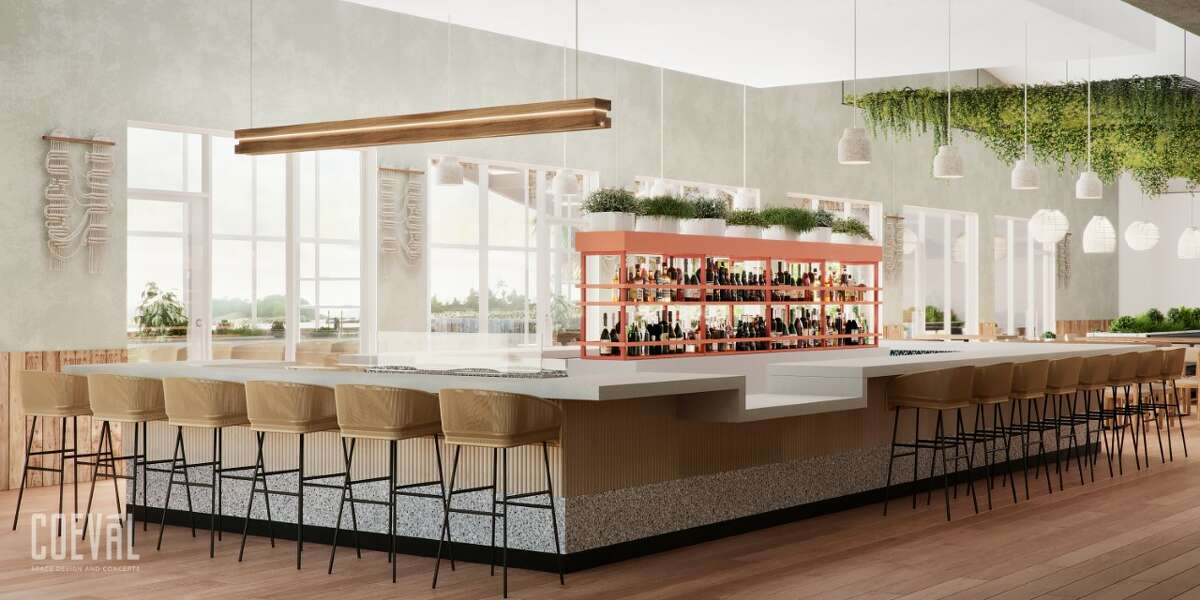 Raw bar offerings will include crudos, seafood towers, roasted oysters and oysters on the half shell.Mains will range from wood-grilled fish to locally-sourced wood-grilled proteins. Shrimp, crab and fish will be available year-round via a seasonal program.