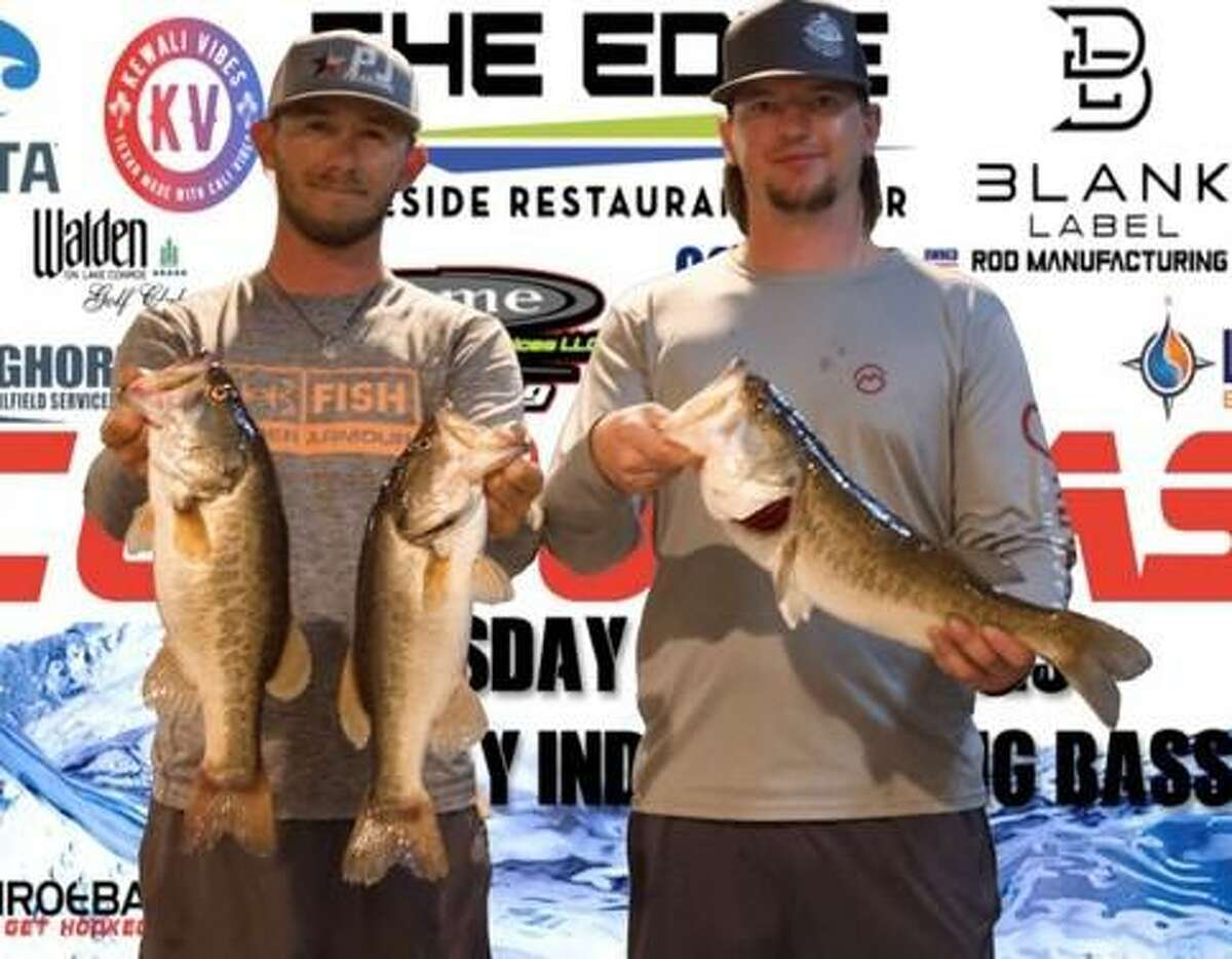 Wesley Baxley and Bradley Moore came in third place in the CONROEBASS Tuesday Night tournament with a stringer weight of 9.92 pounds.