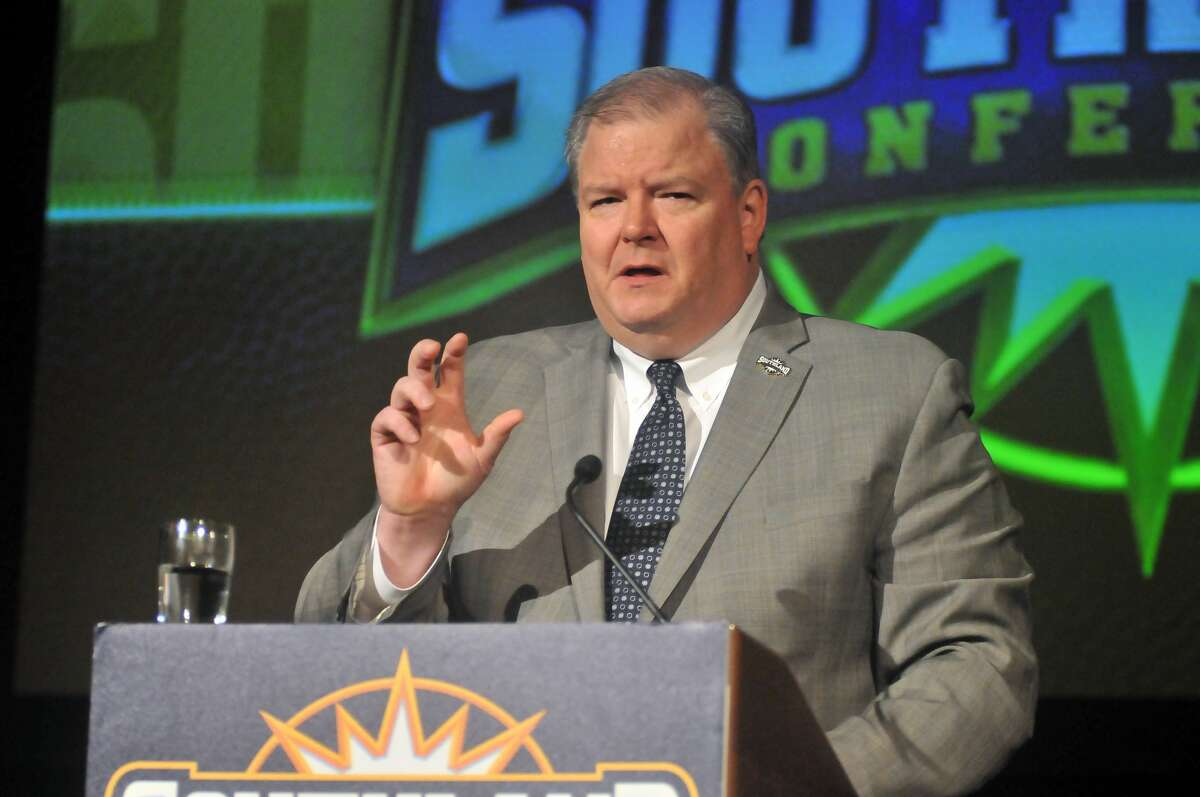 """Southland Conference commissioner Tom Burnett called it """"a tremendous honor and opportunity"""" to welcome Texas A&M-Commerce into the league."""