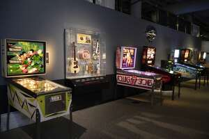 """""""Part of the Machine: Rock and Pinball,"""" an interactive exhibit from the Rock & Roll Hall of Fame to open at the Universal Preservation Hall in Saratoga Springs."""