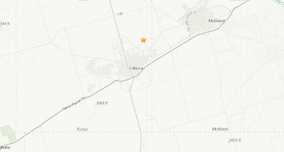 The U.S. Geological Survey reported Wednesday that a 2.7 magnitude quake hit southeast of Gardendale.The quake happened around 6:31 a.m., 5.5 miles southeast of Gardendale or northeast of Odessa Photo: U.S. Geological Survey