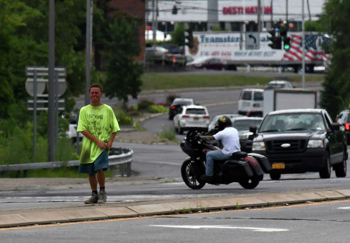 The intersection at Everett Road and I-90 was redesigned to follow new federal guidance. (Will Waldron/Times Union)