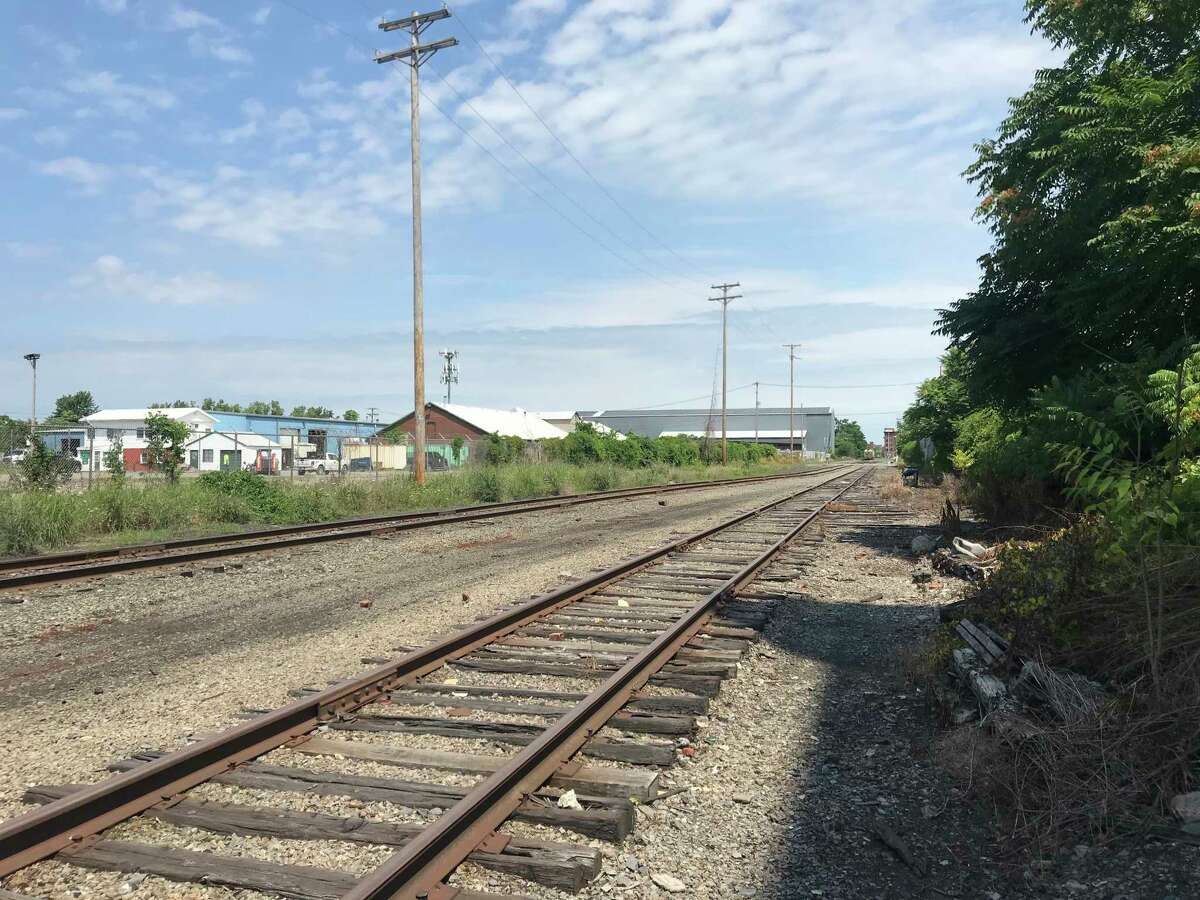 The body of homicide victim Deborah Koenig was found on June 15, 1987 along this stretch of tracks between Monroe and Jackson streets in Troy, N.Y. Looking north from Jackson Street.