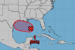 A disturbance in the Gulf of Mexico has an 80 percent chance of development as of Wednesday, July 22, 2020.