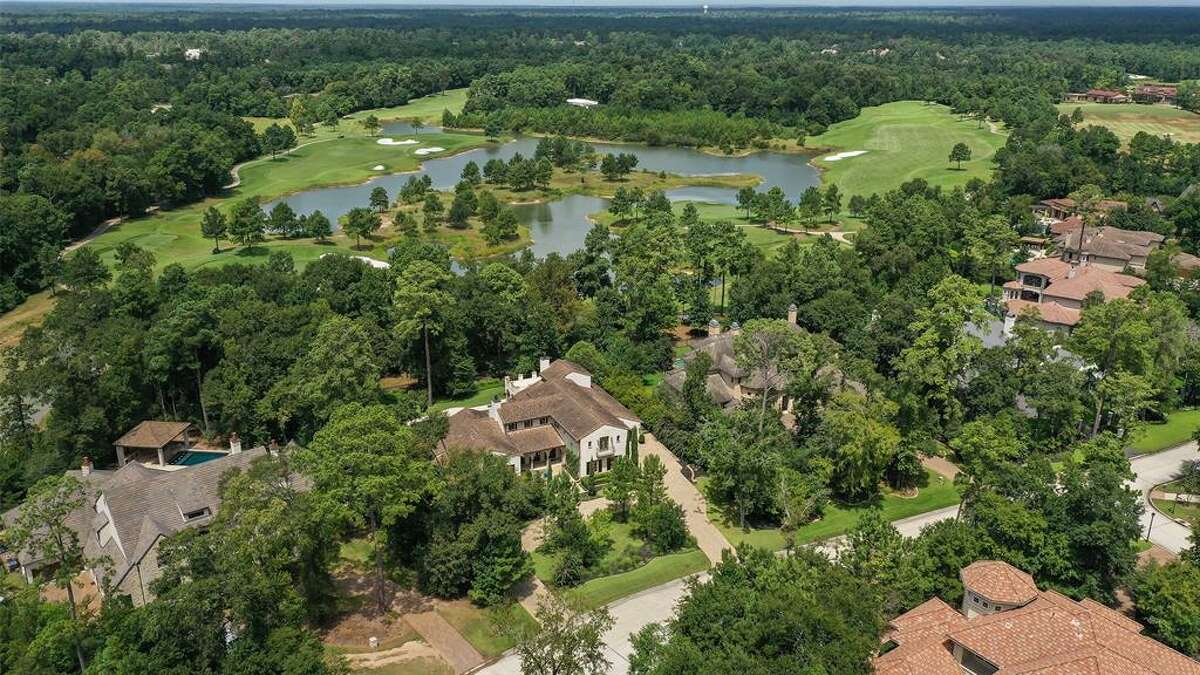 An aerial view of the property, which spans 37,141 square feet.