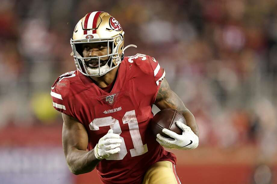 FILE - In this Sunday, Jan. 19, 2020 file photo, San Francisco 49ers running back Raheem Mostert (31) runs against the Green Bay Packers during the second half of the NFL NFC Championship football game in Santa Clara, Calif. Photo: Tony Avelar / Associated Press