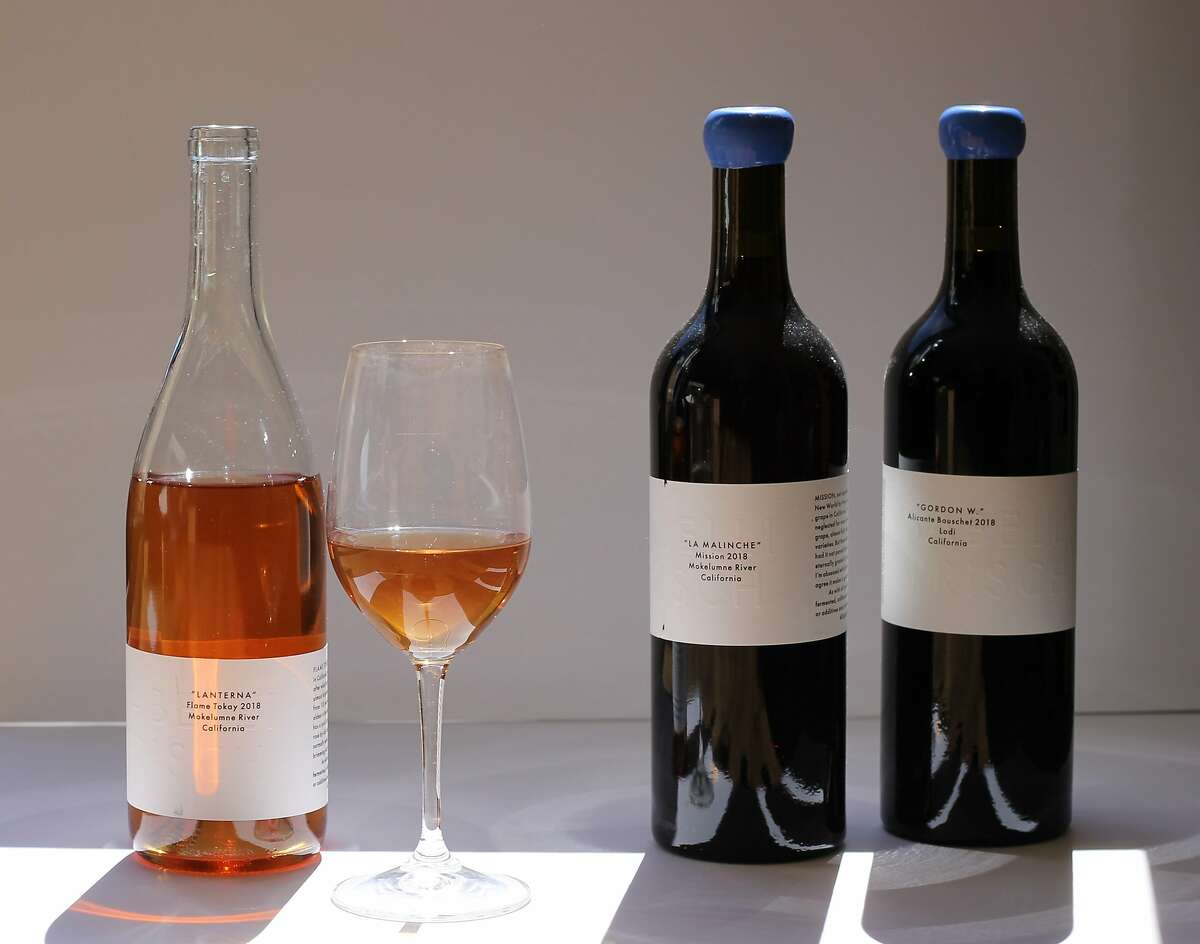 Flame Tokay, Mission and Alicante Bouschet wines from winemaker Adam Sabelli-Frisch.