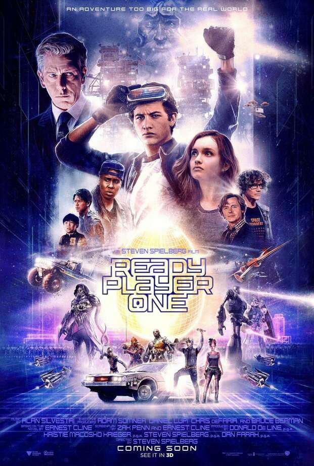 Spielberg's latest theatrical outing is 2018's Ready Player One, based on the best-selling sci-fi novel by Ernest Cline. Set in the near-enough future, the movie tells the story of a world that lives in their Alternate Reality game called the Oasis, which has consumed every aspect of modern life. Photo: Courtesy Photo