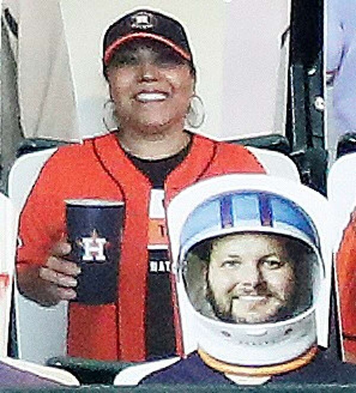 The Crawford Boxes aren't the Crawford Boxes without beers. So, salute to this woman for coming prepared. And, Ol' Astronaut Helmet there is ready if the beers lead to rowdiness at any point during the season.