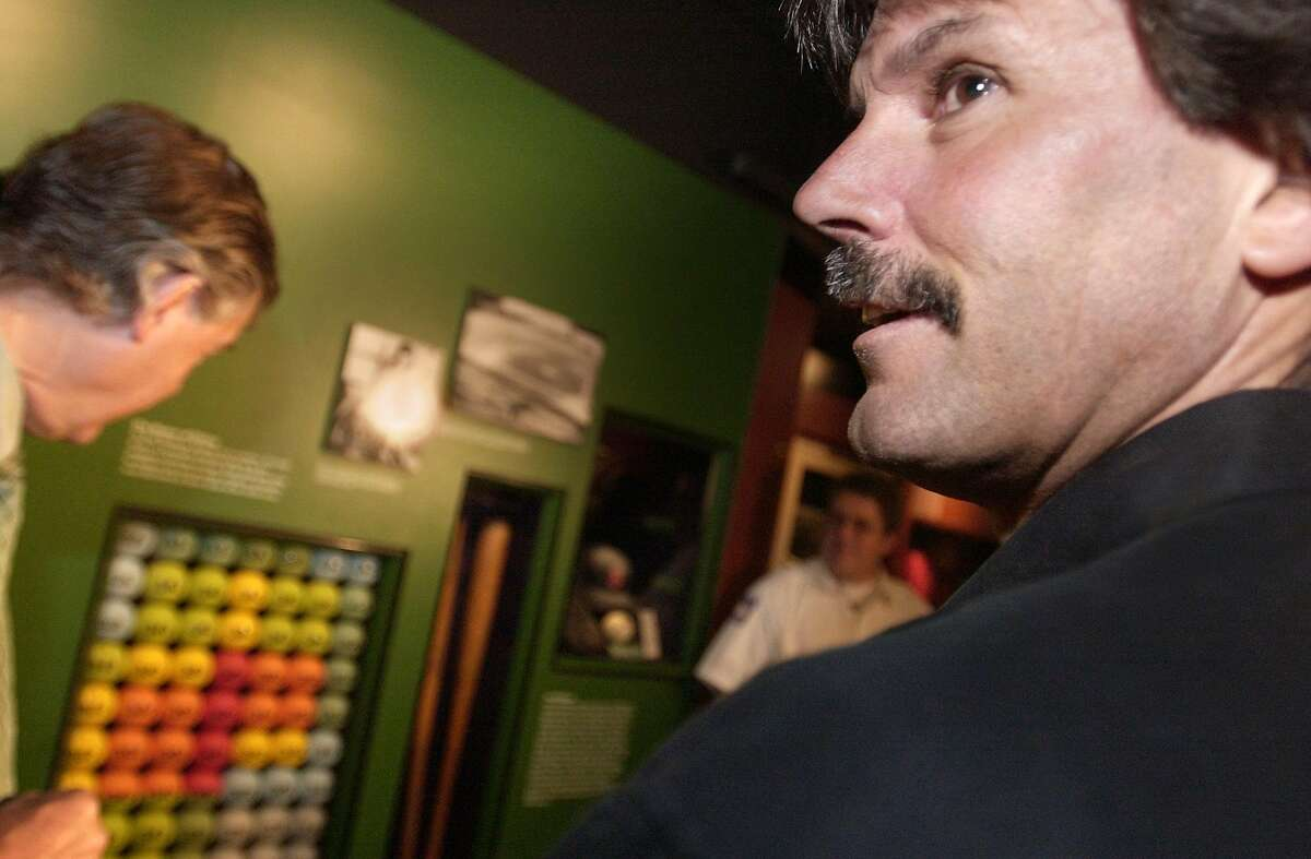 Special to the Chronicle photo by Stacey Lauren -- Dennis Eckersley at the National Baseball Hall of Fame in Cooperstown, NY on Monday May 10, 2004. Eckersley will be inducted in July 2004. For Ron Kroichick story.