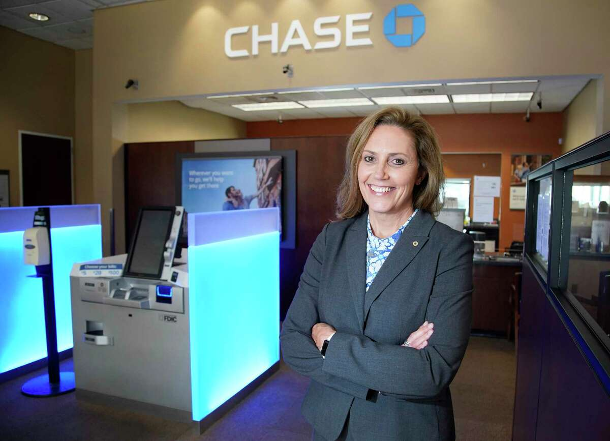 Mary Picard, JPMorgan Chase market director, is shown at Chase, 5020 San Felipe St., Wednesday, June 17, 2020, in Houston. JPMorgan Chase is the dominant bank in the Houston metro area in the latest Chronicle 100.