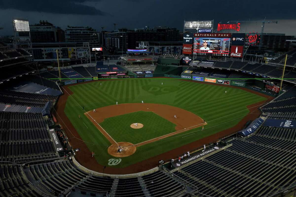 Nationals Park in Washington, where the Nationals will face the New York Yankees on Thursday. MUST CREDIT: Washington Post photo by Katherine Frey.