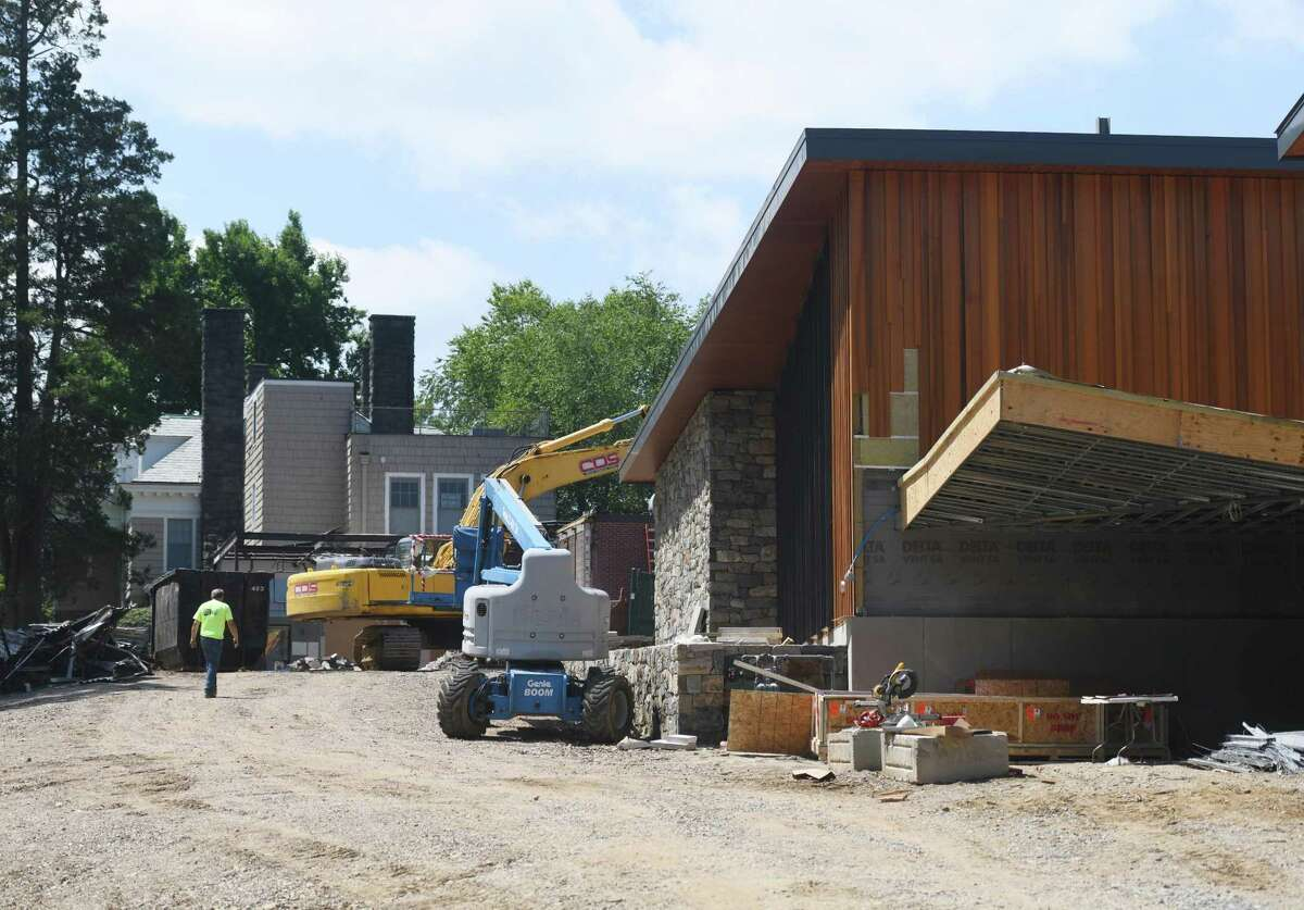 Construction continues at the Greenwich Academy campus in Greenwich, Conn. Monday, July 20, 2020. The new Lower School construction has been completed for the start of the school year on Sept. 8.