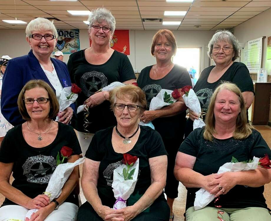 Pictured are, back row, from left, Penny Fleischmann, Saralee Anderson, Brenda Murray, Sandy Wetherell; and front row, from left, Gina Grassmick, Lela Toner and Eleanor Post. (Photo provided/Sanford America Legion Auxiliary)