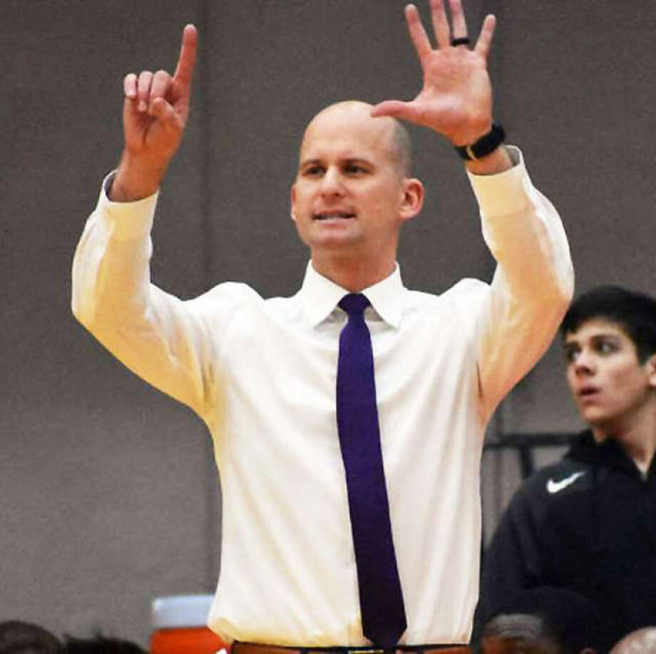 Edwardsville coach Dustin Battas took the Tigers from a 20-loss season in his first year as head coach to a 23-win season in Year 2 and is the 2020 Telegraph Large-Schools Boys Basketball Coach of the Year. Photo: Hearst Illinois File Photo