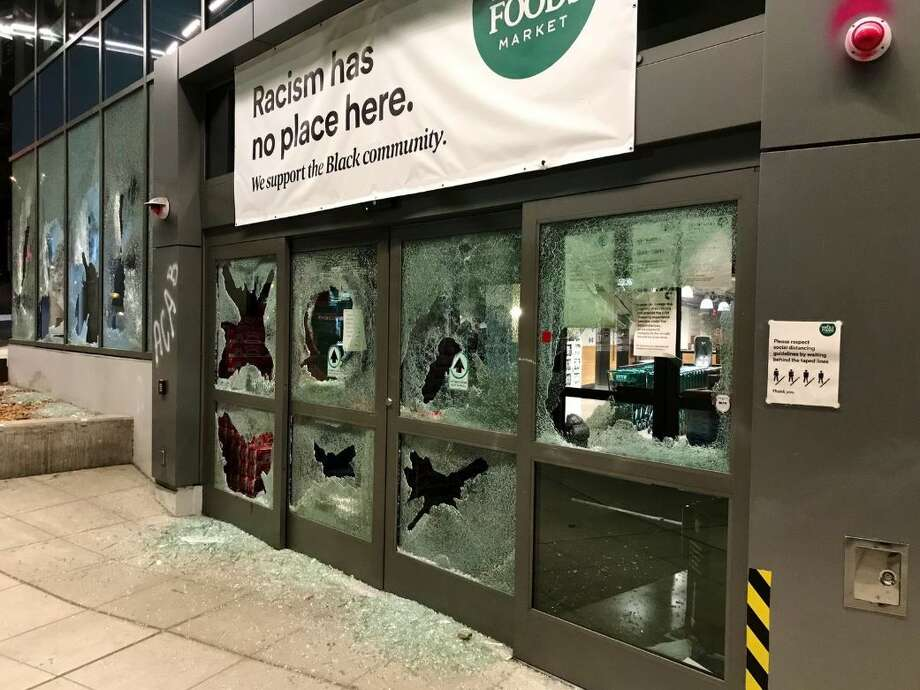 Police: Protesters breaking into businesses, setting merchandise on fire Photo: Courtesy Of KOMO News