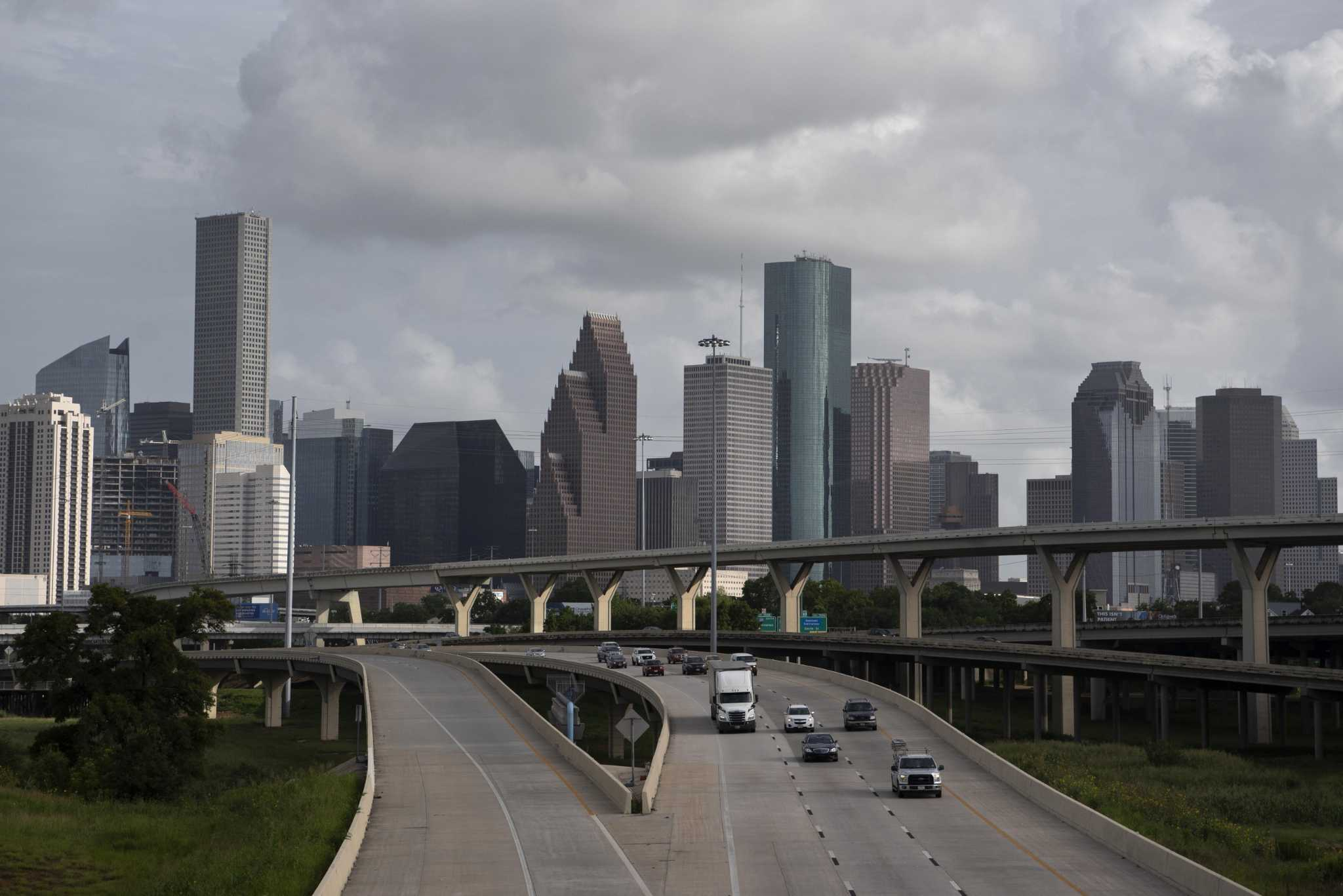 Light traffic on Houston's freeways. The question for businesses is when and if things get back to normal.