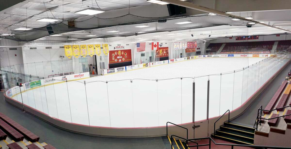 While it has been closed to the public for months, workers and volunteers laid down and meticulously painted a new sheet of ice at Ewigleben Arena. When the doors are allowed to open, it will be skater-approved.