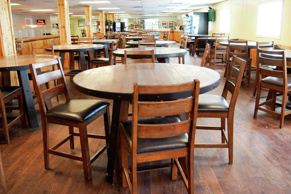 The overall performance ofHouston's public companies slumped with oil prices in 2019, leaving them in an already weakened position for the one-two punch of the 2020 recession and oil bust. The dining area at Permian Lodging's Orla location closed off during the coronavirus restrictions on Wednesday, April 29, 2020.