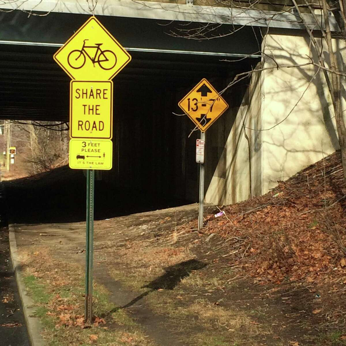 Signage posted and painted along the bike paths were purchased with funding from the Connecticut Preventative Health Block Grant.