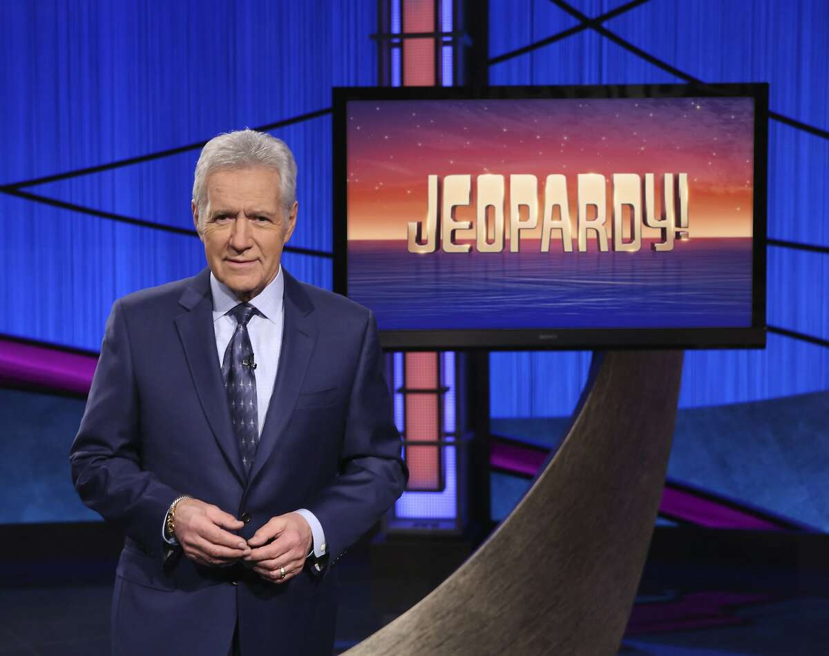 This image released by Jeopardy! shows Alex Trebek, host of the game show