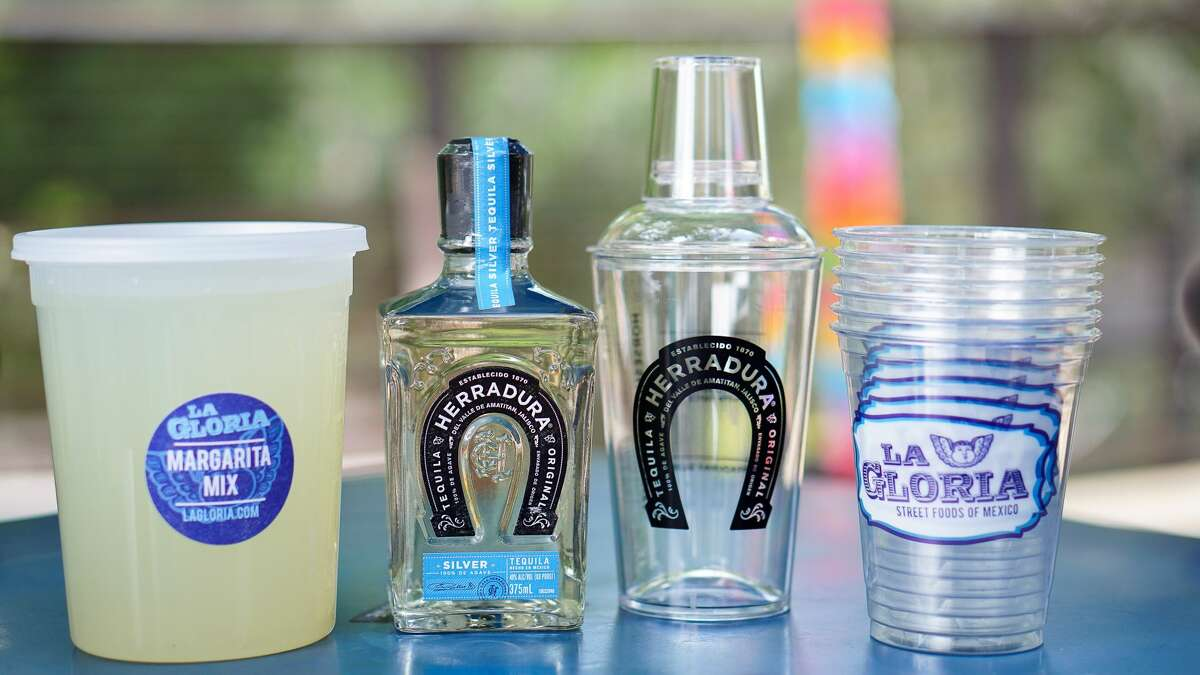 Other to-go specials include the Herradura Silver Margarita Kit, which comes with one shaker, six cups, 32-ounce margarita mix and salt for $34.