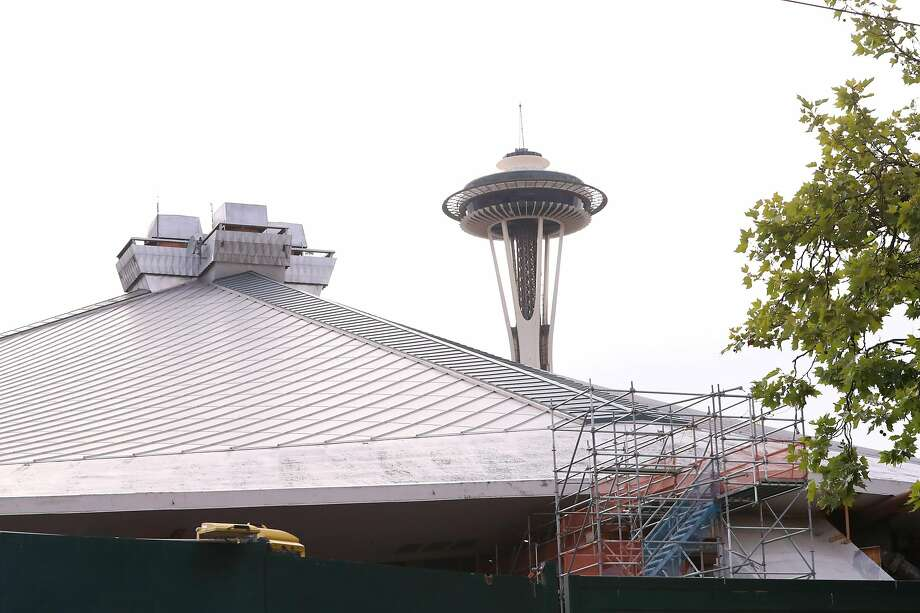 SEATTLE, WASHINGTON - JULY 23: A general view of Climate Change Arena as it undergoes construction to prepare for the 2021 NHL season on July 23, 2020 in Seattle, Washington. The NHL revealed today the name for Seattle's new hockey team, the Seattle Kraken. (Photo by Abbie Parr/Getty Images) Photo: Abbie Parr, Getty Images