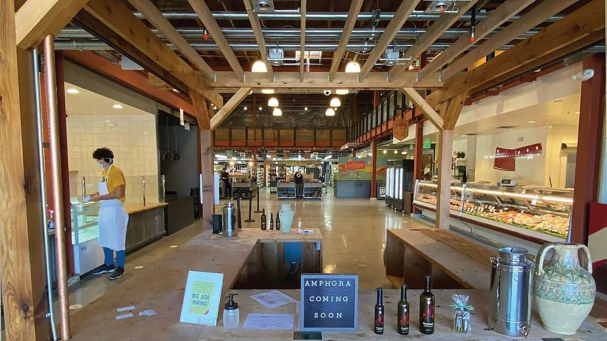 Food hall Castro Valley Marketplace recently opened with a grocery store, butcher shop and bakery. An olive oil store, cocktail bar and sushi restaurant are among the coming attractions.