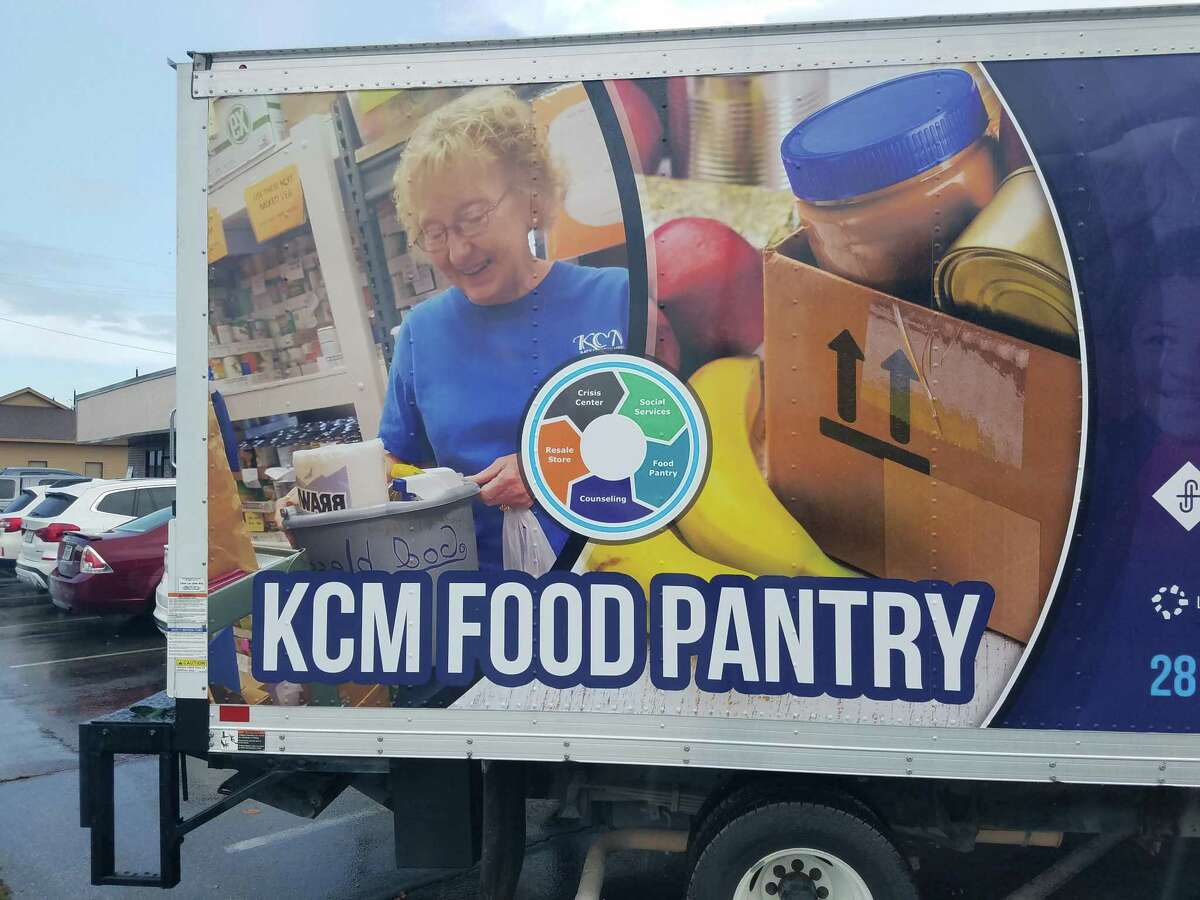 Katy Christian Ministries unveils its new food transportation truck on July 22.