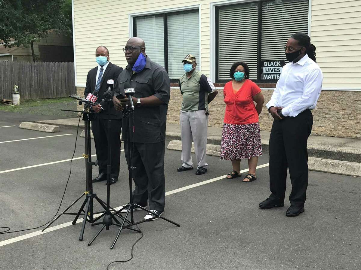 The Rev. Boise Kimber speaks on his belief New Haven's schools are not prepared to reopen their doors in late August at a July 23, 2020, press conference.