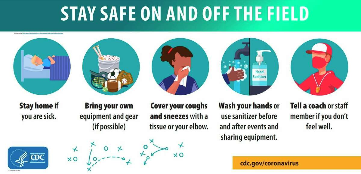 The CDC offers tips for keeping athletes safe and healthy. (DHD#10/Courtesy graphic)