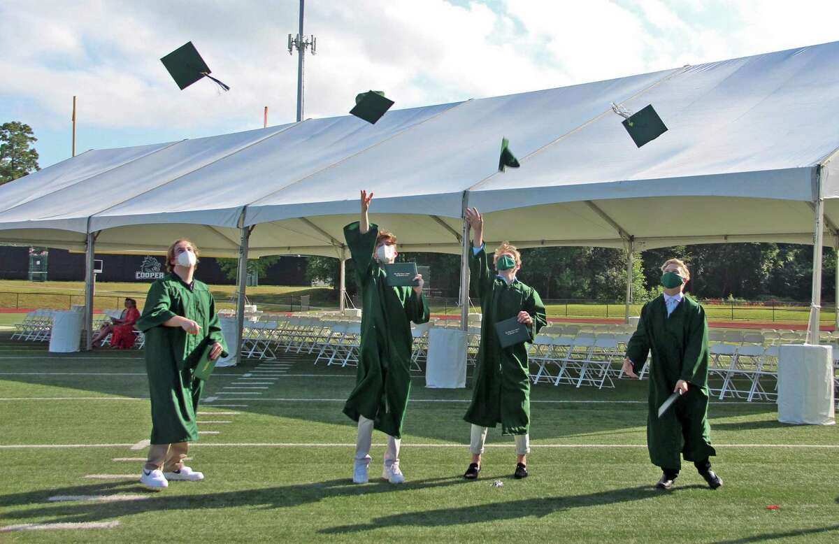 This year's graduation ceremony at The John Cooper School looked significantly different than years before, and different from how it had been planned just a few weeks ago. Due to the rise of COVID-19 cases locally, the ceremony was made much smaller and more intimate.