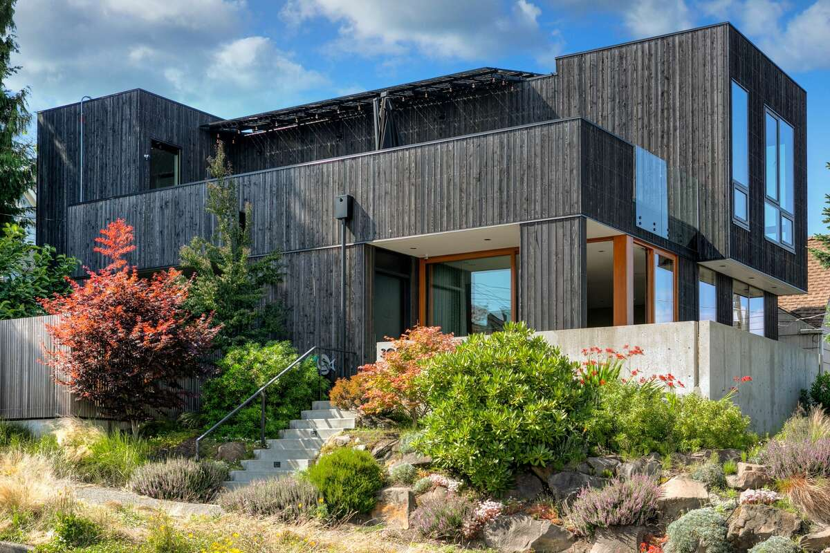 The home rests on a 4,416-square-foot lot in Seattle's Belvidere neighborhood in West Seattle.