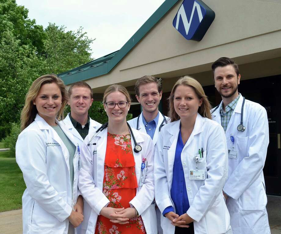 Munson Healthcare Family Practice Residency Class of 2020 include from left: Kayla Stefanko, D.O.; Ben Vanos, D.O.; Leah Walbridge, M.D.; Tommy Walbridge, D.O.; Anne Broad, M.D.; and Adrian Nahirnyj, D.O. (Courtesy Photo)