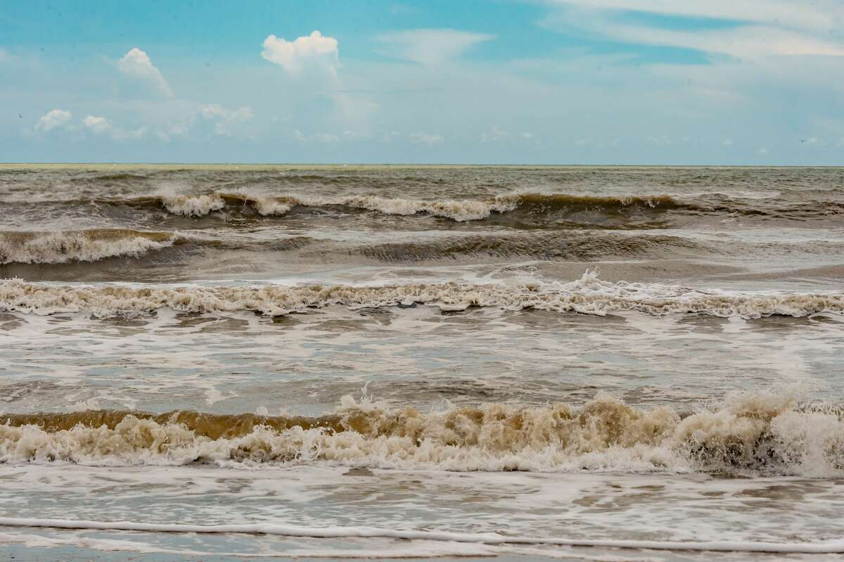 The seas in the Gulf off the Bolivar Peninsula grow rougher Thursday afternoon. Photo made on July 23, 2020. Fran Ruchalski/The Enterprise