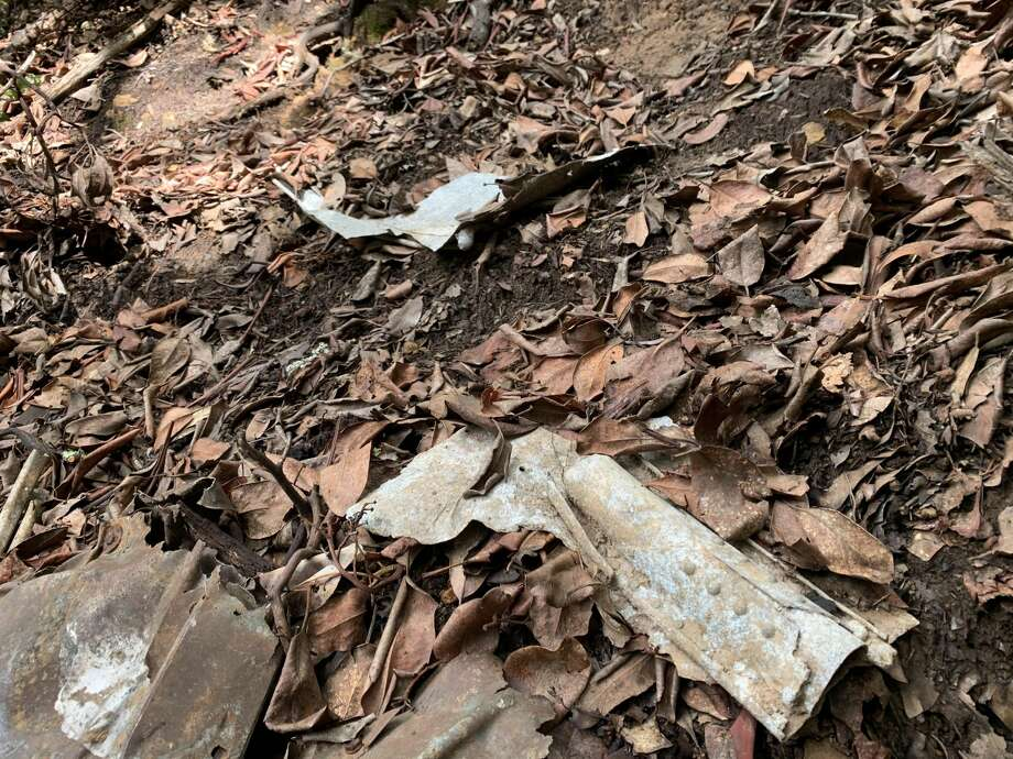 Plane wreckage has been in the preserve for 67 years. Photo: Grant Marek/SFGate