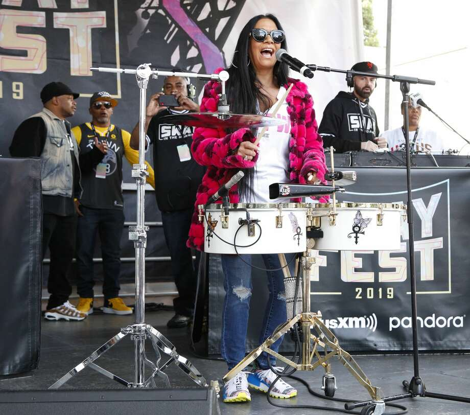 "FILE - Sheila E performs at the SiriusXM and Pandora Sway Fest 2019 on Oct. 18, 2019 in Oakland. On Thursday evening, the musician will host ""We Stand Together,"" a music showcase and benefit event for arts programs at Oakland public schools. Photo: Kimberly White/Getty Images For SiriusXM / 2019 Getty Images"