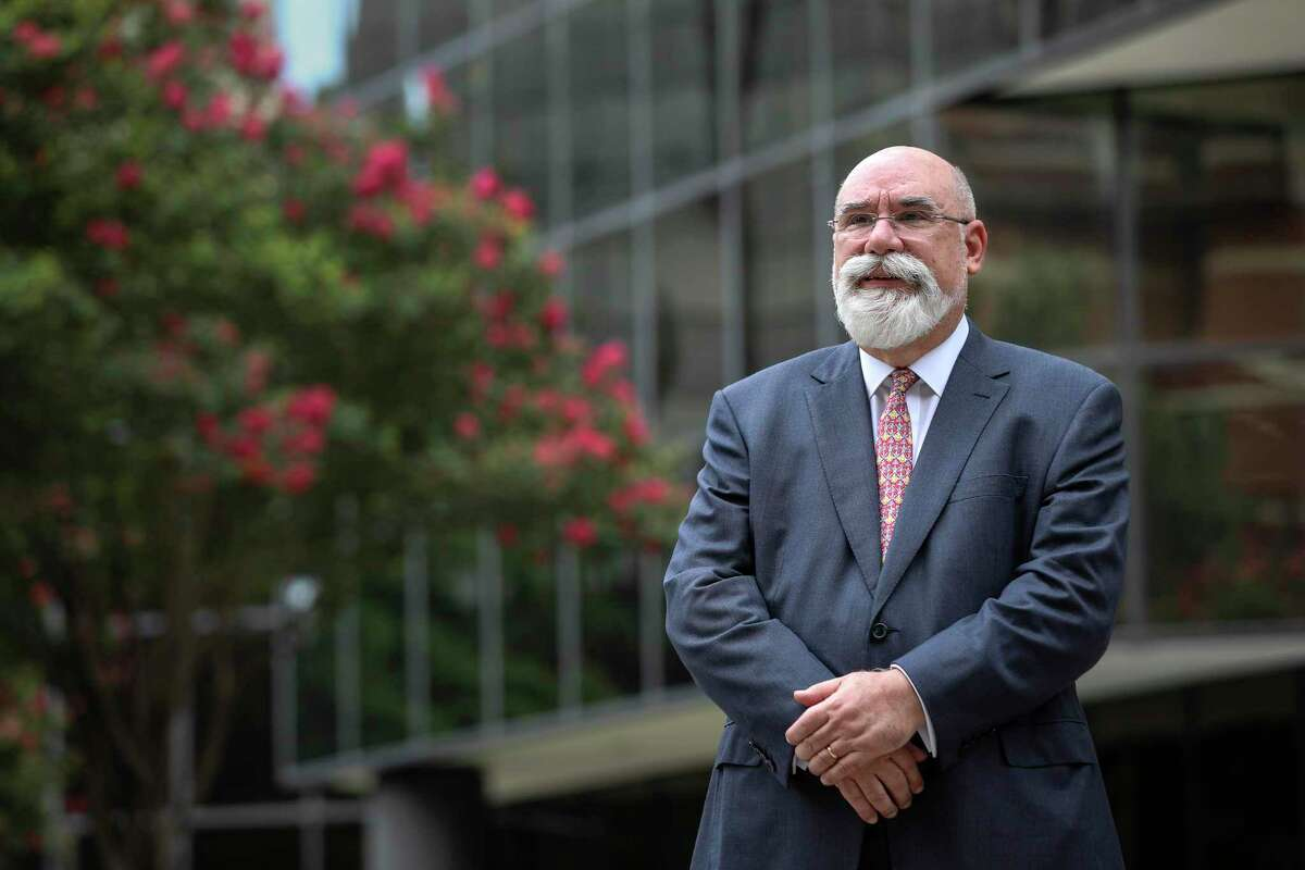 Steve Nicandros, chairman of the board of Frontera Resources, poses for a portrait Monday, July 6, 2020, at the company's office in Houston.