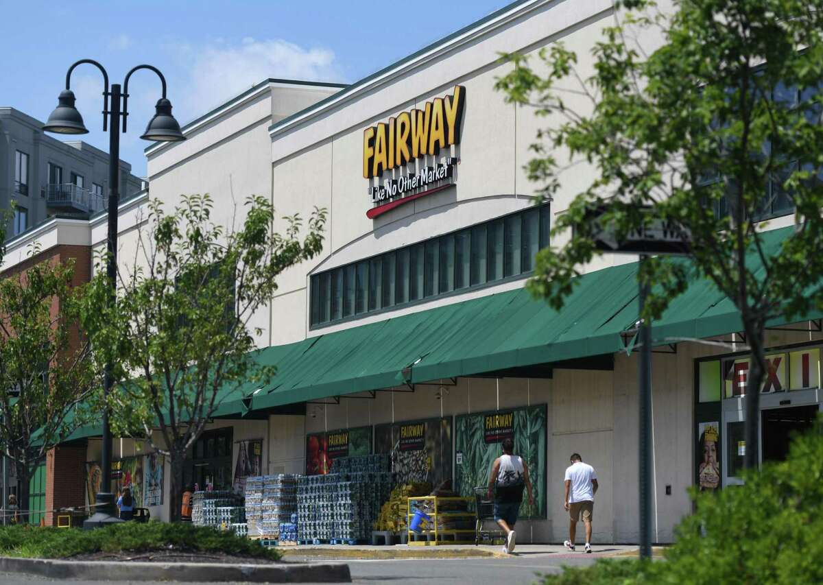 Fairway Market operated at 689-699 Canal St., in Stamford, Conn., from November 2010 to August 2020. It is seen here on July 20, 2020